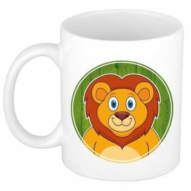 Leeuw dieren mok / beker van keramiek 300 ml