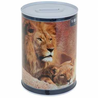 Leeuwen spaarpot 15 cm