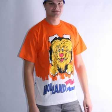 Leeuwen t-shirt dubbel print