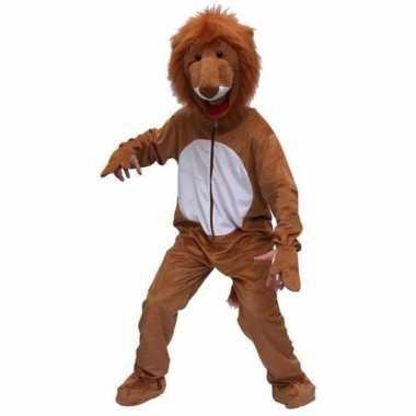 Leeuwen verkleed kleding van pluche