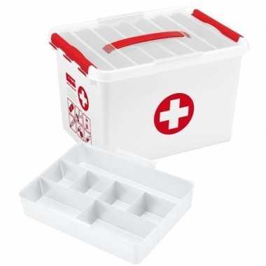 Lege ehbo box/doos/kist 8.7 liter van kunststof