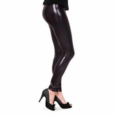Legging zwart metallic
