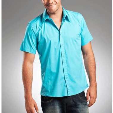Lemon&soda overhemd voor heren turquoise