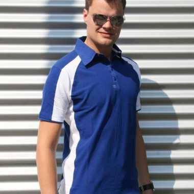 Lemon&soda polo shirt voor heren blauw