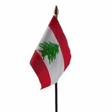 Libanon vlaggetje polyester