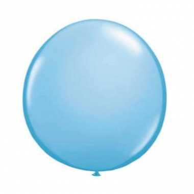 Licht blauwe qualatex ballon 90 cm