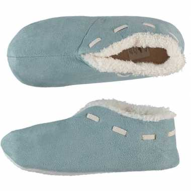 Licht blauwe spaanse sloffen/pantoffels voor dames