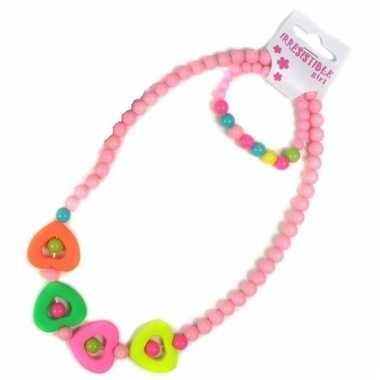Licht roze sieraden setje voor kinderen