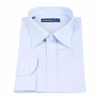 Lichtblauw business overhemd voor heren