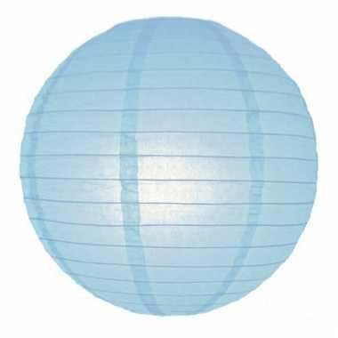 Lichtblauwe bol lampion 25 cm