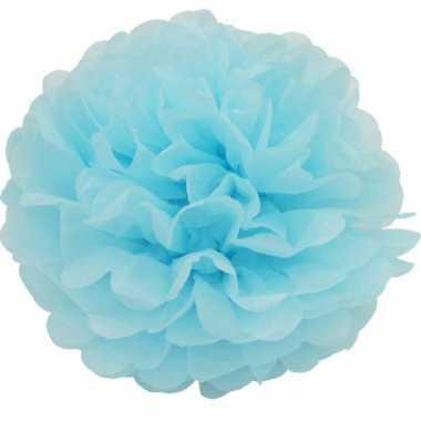 Lichtblauwe decoratie pompoms 35 cm