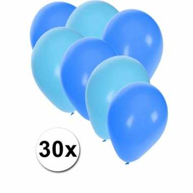Lichtblauwe en blauwe ballonnen 30 stuks