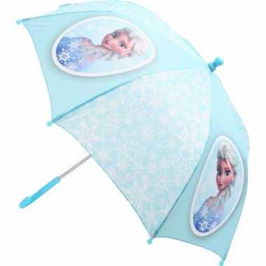 Lichtblauwe frozen kinder paraplu elsa