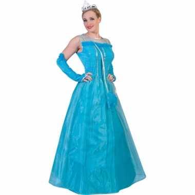 Lichtblauwe prinsessen damesjurk