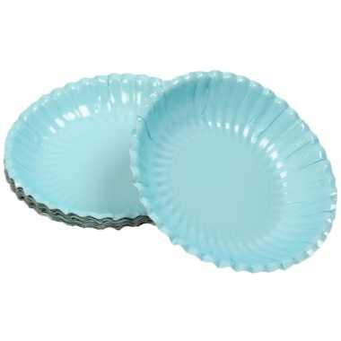 Lichtblauwe snack schaaltjes 16 cm