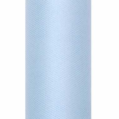 Lichtblauwe tule stoffen15 cm breed