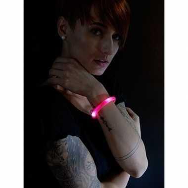 Lichtgevende armband rood met led lampjes voor volwassenen