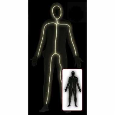 Lichtgevende bodysuit voor volwassenen