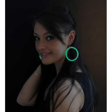 Lichtgevende oorbellen groen
