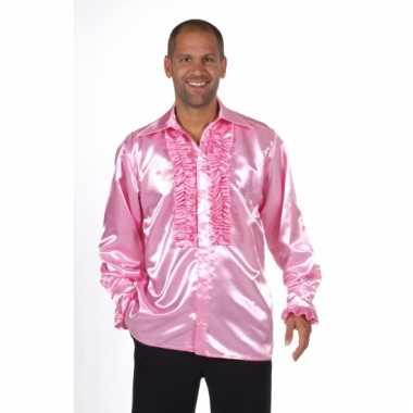 Lichtroze feest blouse voor heren