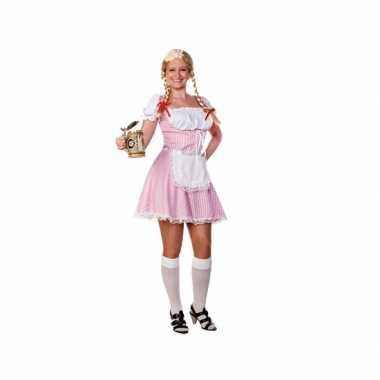 Lichtroze oktoberfest jurkje voor dames