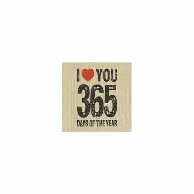 Liefdes servetten 365 days