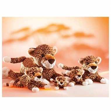 Liggend luipaard knuffeltje 32 cm