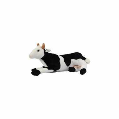 Liggende koe knuffel van 35 cm