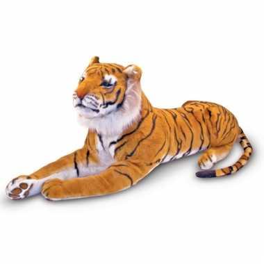 Liggende pluche tijger 170 cm