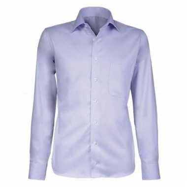 Lila business overhemd voor heren