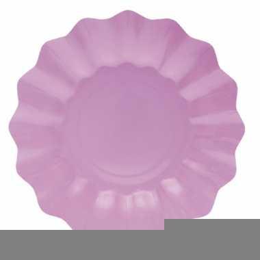Lila paarse diepe wegwerp bordjes 21 cm