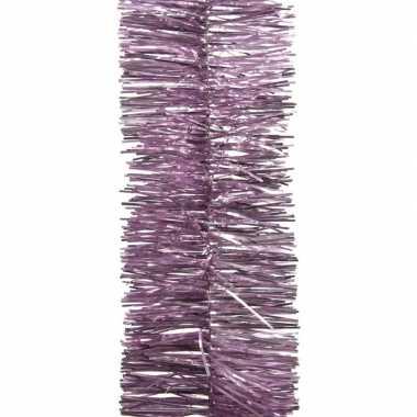 Lila paarse kerstboom folie slinger 270 cm