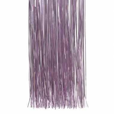 Lila paarse kerstboom versiering lametta slierten