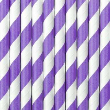 Lila paarse met witte rietjes