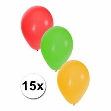 Limburg versiering ballonnen 15 stuks