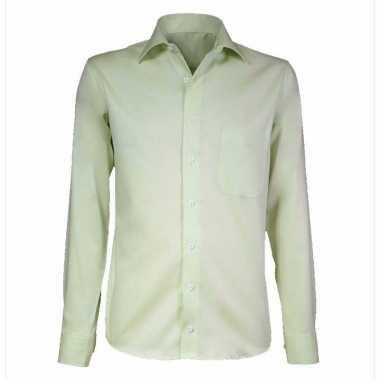 Lime business overhemd voor heren
