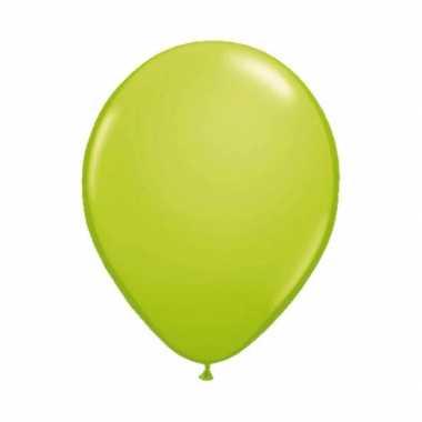 Lime groene ballonnen 10 stuks