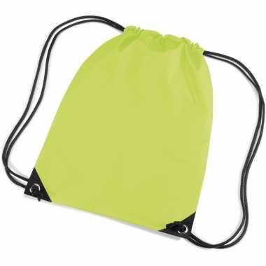 Lime groene gymtasjes