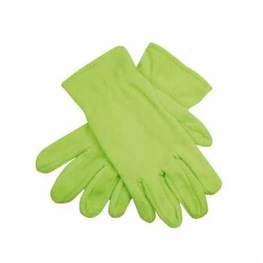Lime groene handschoenen
