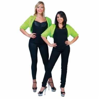 Lime groene nepbonten jasje voor dames