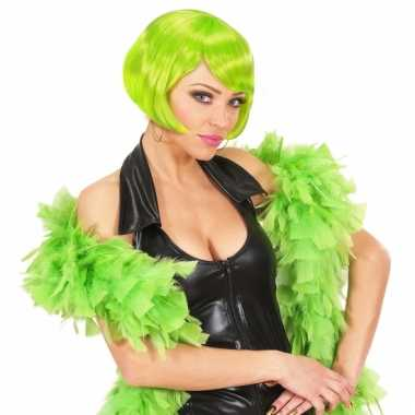 Lime groene veren boa 180 cm