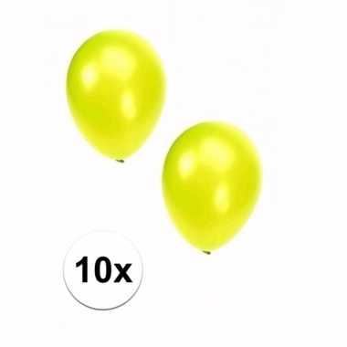 Lime grote ballonnen 10 stuks