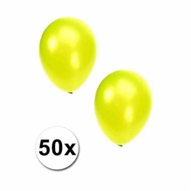 Lime grote ballonnen 50 stuks