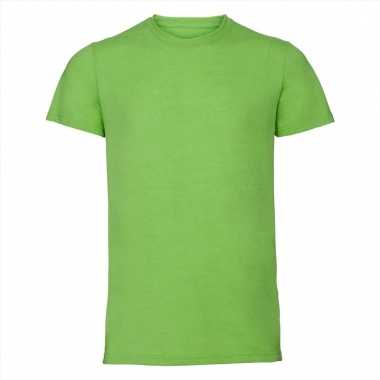 Lime heren t-shirts met ronde hals
