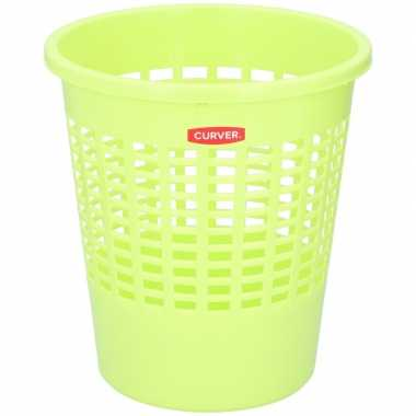 Limegroene afvalbak/prullenmand 20 liter