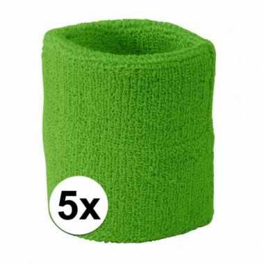 Limegroene polsbandjes 5 stuks