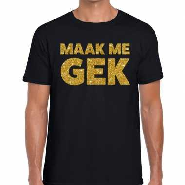 Maak me gek fun t-shirt zwart voor heren