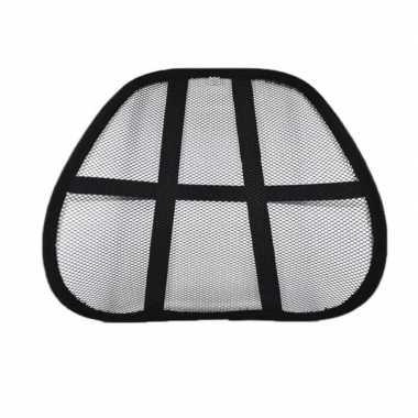 Maasvormige rugsteun voor bureaustoel zwart 40 cm