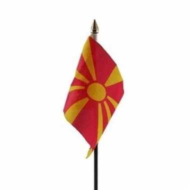 Macedonie vlaggetje polyester