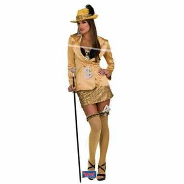 Madam kostuum goud volwassenen